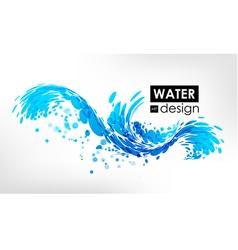 Wave splash vector