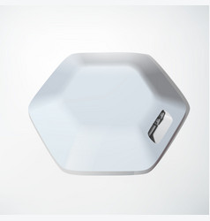 light usb hub device concept vector image