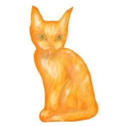 orange tabby kitten vector image vector image