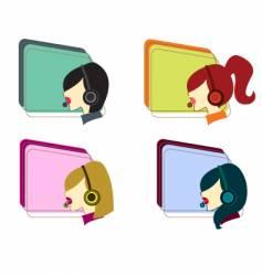 telco girls vector image