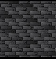 black brick wall background vector image