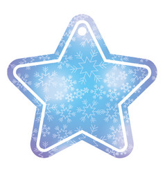 christmas tag price shaped star glitter decoration vector image