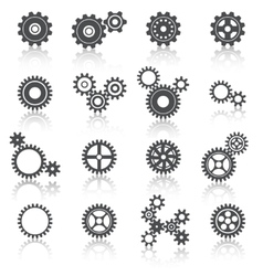 Cogs Wheels and Gears Icons Set vector image