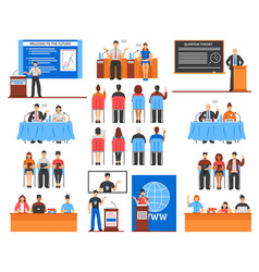 conference elements set vector image