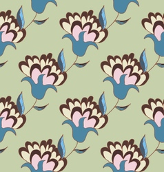 Cute pastel floral seamless pattern vector