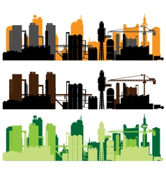 factory city vector image