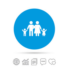 family icon parents with children symbol vector image vector image
