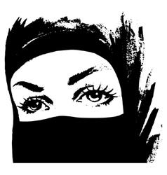 Muslim woman in hijab vector image