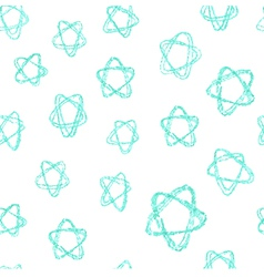 Seamless pattern - hand drawn azure stars vector image vector image