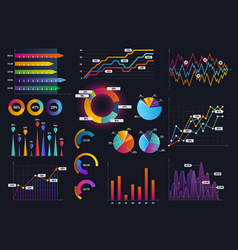 technology graphics and diagram with options and vector image vector image