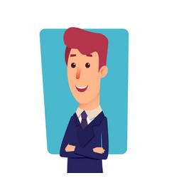 business man character cartoon successful vector image
