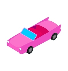 Car convertible icon isometric 3d style vector image
