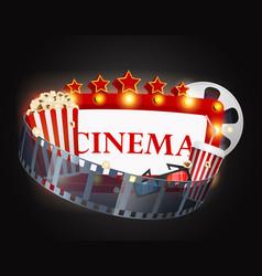 cinema movie background vector image