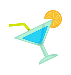 cocktail drink for night club or disco party vector image vector image