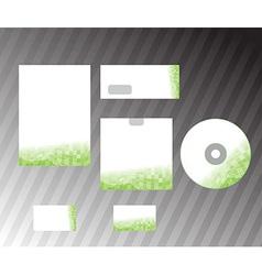 Corporate design template elements vector image