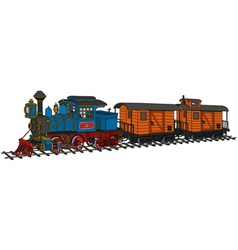 Funny american steam train vector image vector image