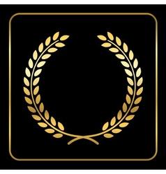 Gold laurel wreath design vector