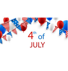 4th july background with balloons vector