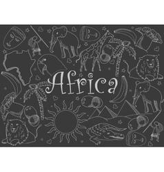 Africa chalk vector
