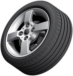 Alloy wheel isolated vector