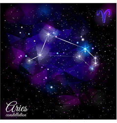 Aries constellation with triangular background vector