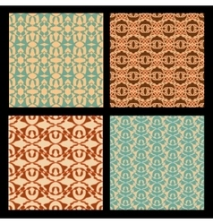 Art deco style seamless background tiles vintage vector