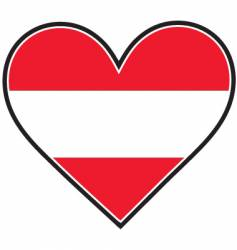 austria heart flag vector image