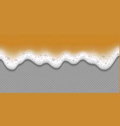 beer foam texture isolated vector image