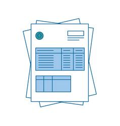bill page icon vector image