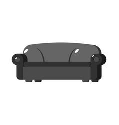 black sofa isolated big large soft couch on white vector image