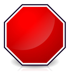 Blank stop sign vector