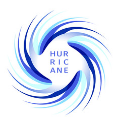 Blue hurricane logo vector