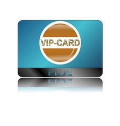 Blue vip card vector