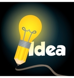 Bulb big idea vector