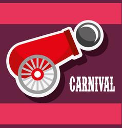 Cannon ball poster carnival fun fair festival vector