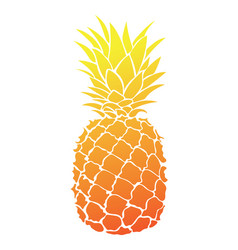 Cartoon pineapple colorful print fresh vector