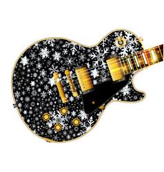 Christmas snowflake guitar vector