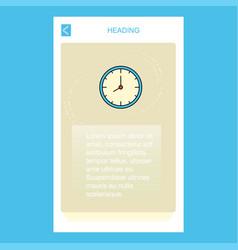clock mobile vertical banner design design vector image