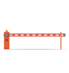Closed car barriers vector