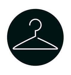 Cloth hanger block and line style icon vector