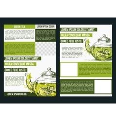 Flyer for green tea vector image