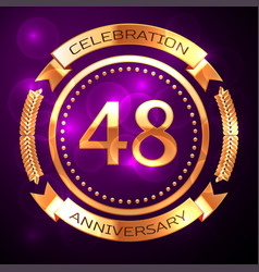 forty eight years anniversary celebration with vector image