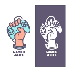 Gamer for life t-shirt design Hand with joystick vector