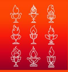 Goblet fire vector