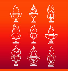goblet of fire vector image