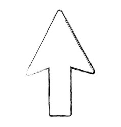 Grunge arrow sign up direction icon vector