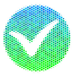 Halftone blue-green apply icon vector