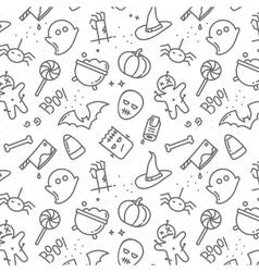 Halloween flat pattern vector image