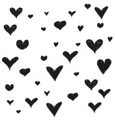 hand drawn black stars vector image