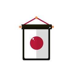 hanging pennant flag nation japanese icon vector image